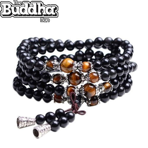 Wrap Tiger Eye Crystal Mala Bracelet