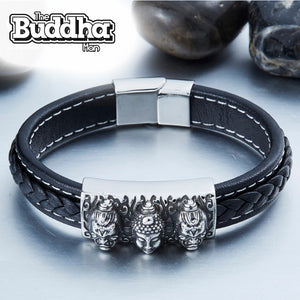 Limited Edition - Leather Buddha Head Bracelet