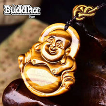 Lucky Laughing Buddha - Natural Gemstone Necklace