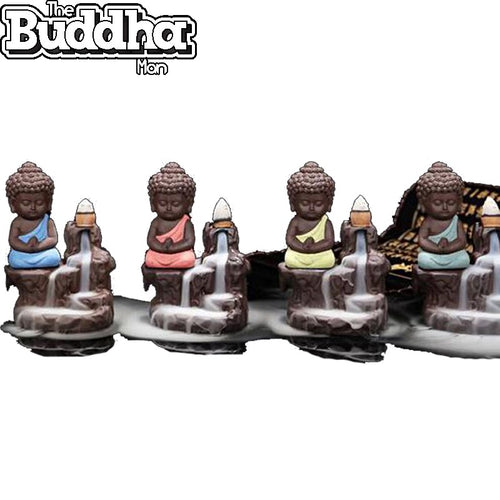 Baby Buddha Statue Burner + 20 Backflow Incense Cones