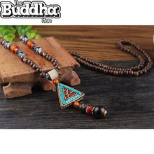 Vintage Buddhist Mala Necklace