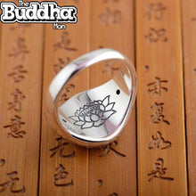 925 Buddha Six Word Ring