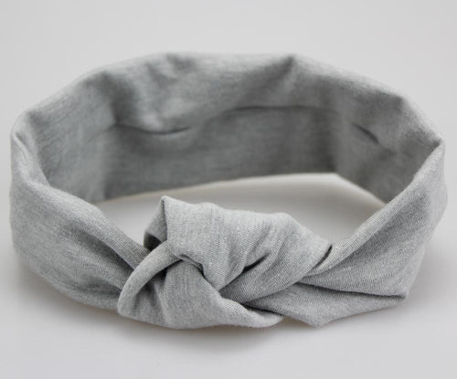 Knitted Elastic Tie Knot Headband