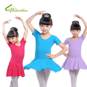 Ballet Short Sleeve Dance Dress