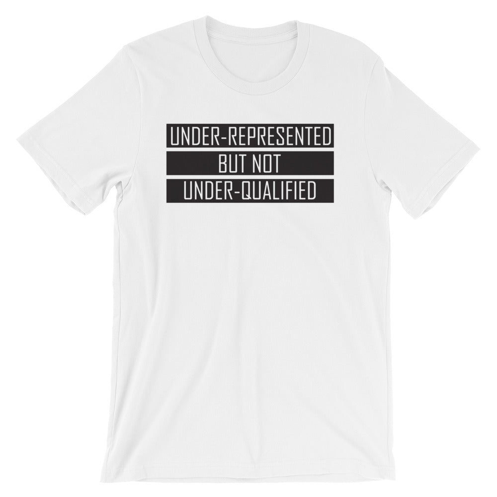 """UNDER-REPRESENTED"" WHITE TEE"