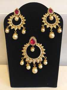 CZ and Ruby Pendant Sets - 9gems.com
