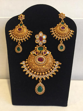 Matt finish Pendent set - 9gems