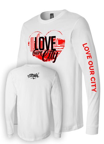 Love Our City Long Sleeve White Tee