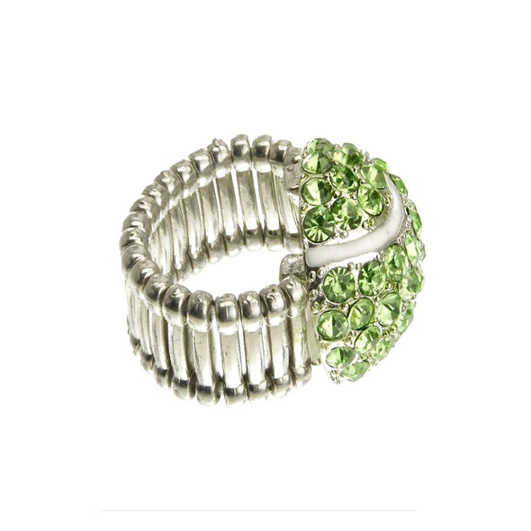Crystal Pave Tennis Balls Bracelet and Ring
