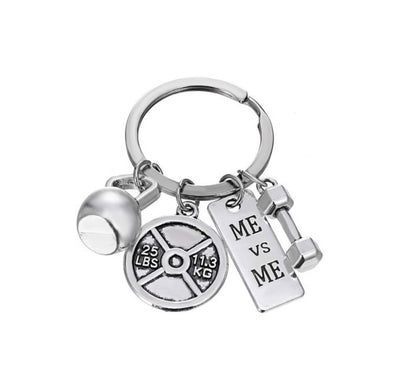 Barbell Dumbbell Key Chain