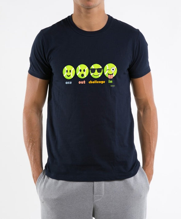 Swinnis Men's Tennis Ball Emoji T-Shirts
