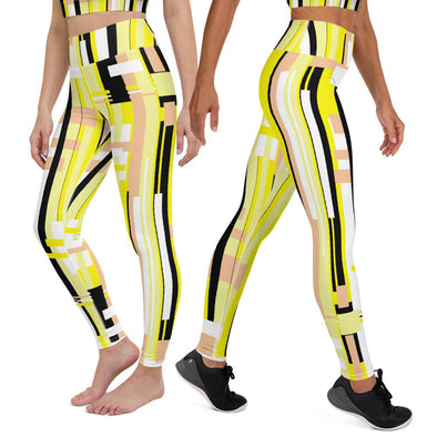 Swinnis Women's Level 21 Yellow Print Leggings
