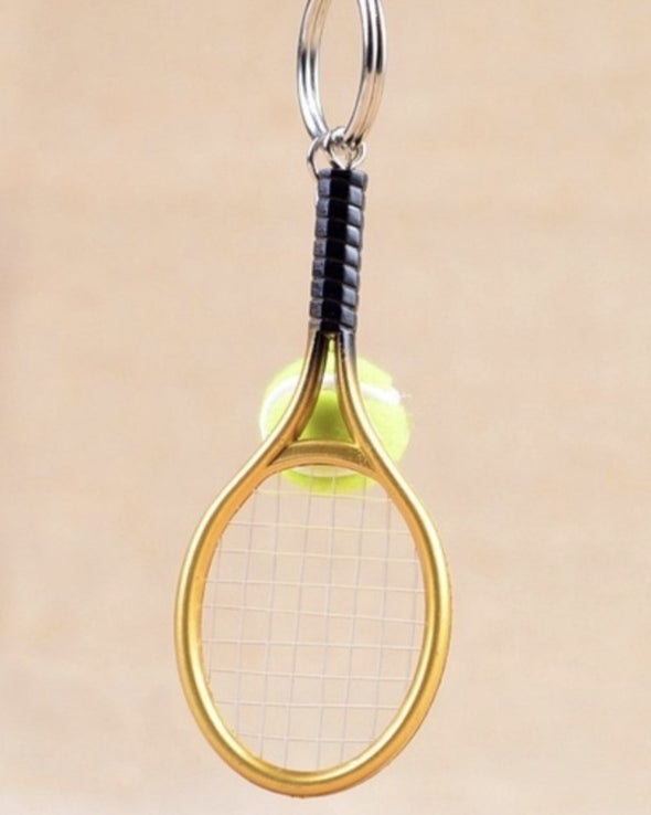 Mini Tennis Racket Key Chain