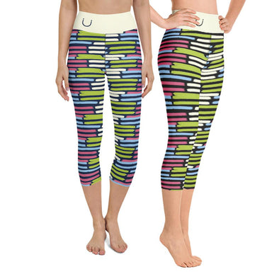 Swinnis Women's Spring Cut Capri Leggings