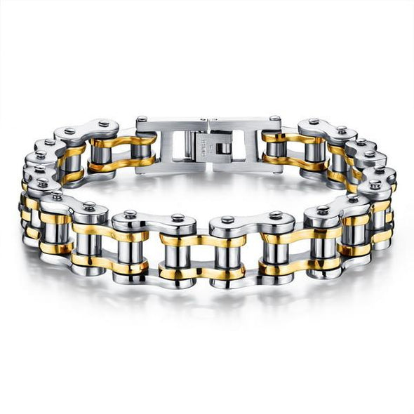 Biker Bracelets: Made of high quality stainless steel. And extremely robust and very low maintenance metal perfect for everyday wear.