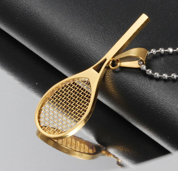 Tennis Racket Shape Pendant