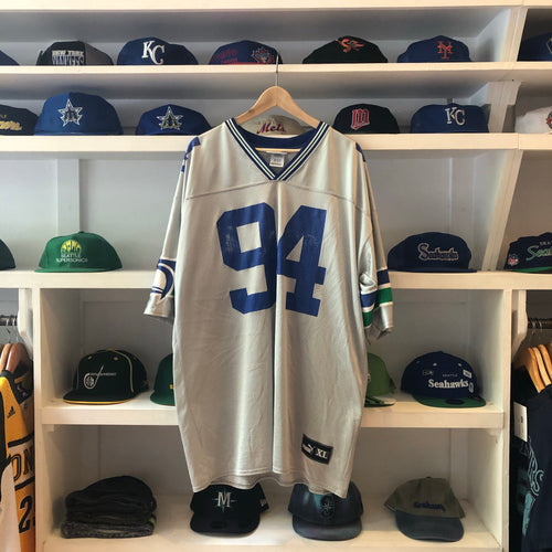 C Brown Silver/Grey Seahawks XL Jersey