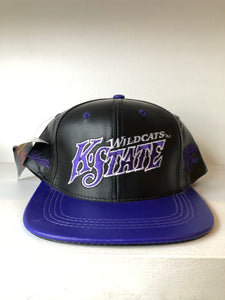 Kansas State Wildcats Leather SnapBack Hat