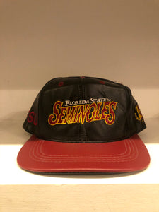 Florida State Leather SnapBack Hat