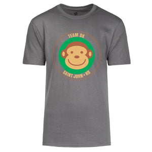Adult Unisex Grey Monkey Tshirt