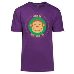 Adult Unisex Purple Monkey TShirt