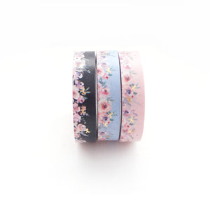 BUNDLE - WASHI 10mm set of 3 - Floral Floor TRIO + Lt. Gold