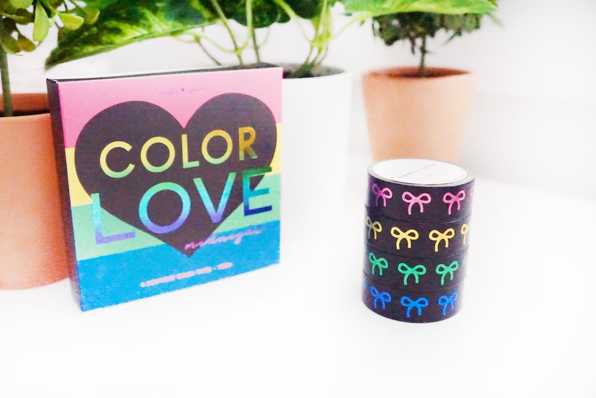 BOX SET of 4 - Color Love MIDNIGHT 15mm + pink/gold/green/blue foil bows (February 28 Release)