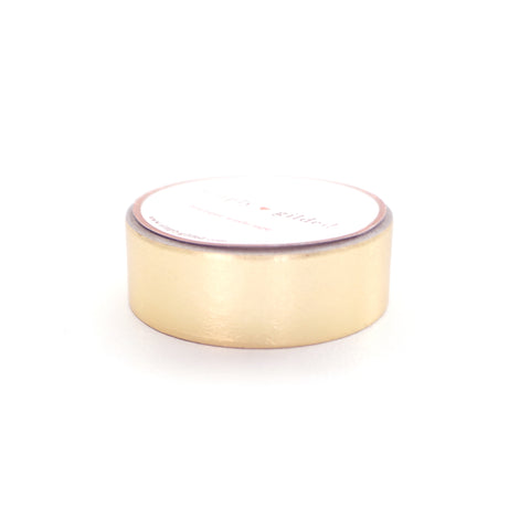 WASHI TAPE 15mm - Solid Gold Metallic foil