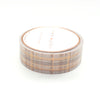 WASHI 15mm - Park Avenue PLAID + Rose Gold