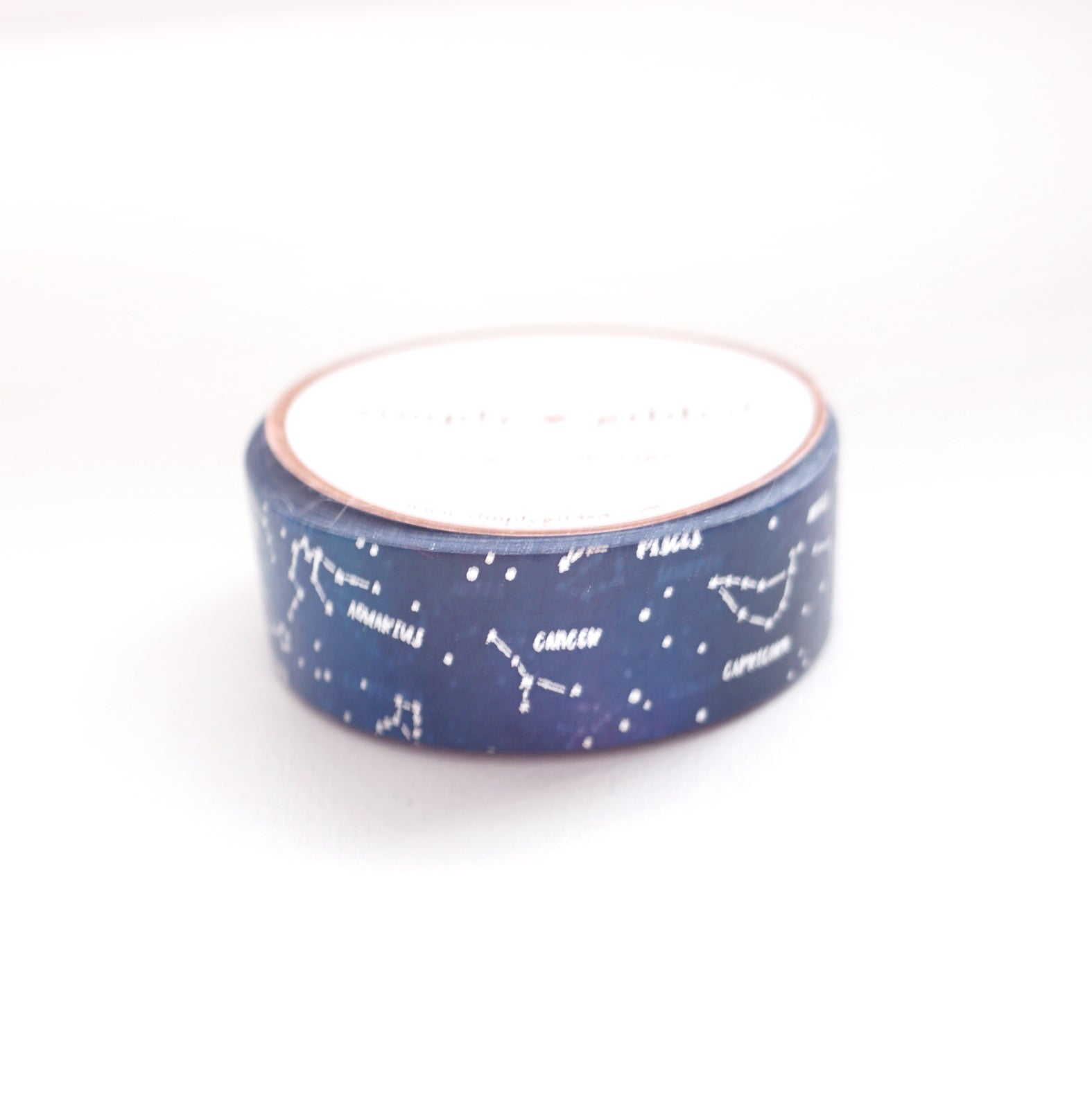 WASHI 15mm - ZODIAC Constellations + silver