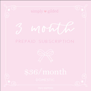 3 Month simply gilded box Prepaid subscription (Domestic)