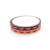 WASHI 5mm set of 2 - NEON BATS/BLACK + you pick color