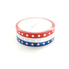 5mm WASHI TAPE set of 3 - classic red/white/blue STAR + silver (June 22nd Release)