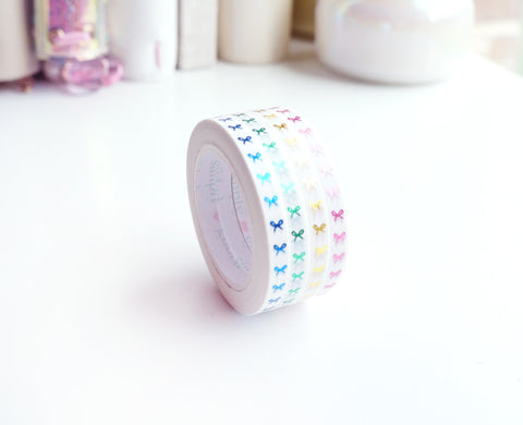 MINI SET 5mm - COLOR LOVE VERTICAL bow washi tape - (June 7 release)