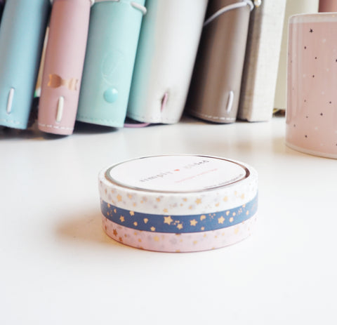 Northern comfort 5mm SHOOTING STAR washi SET (rose gold foil) - add on from Northern Comfort