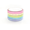 WASHI 5mm BOWS set of 5 - CANDY COATED METALLIC + white BOWS