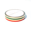 WASHI 5mm set of 2 - Holiday Ornament (green/red) foil COLOR BLOCK
