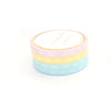 5mm WASHI TAPE bow set of 4 - PRISM HORIZONTAL BOWS + iridescent prismatic overlay foil (Spring Release)
