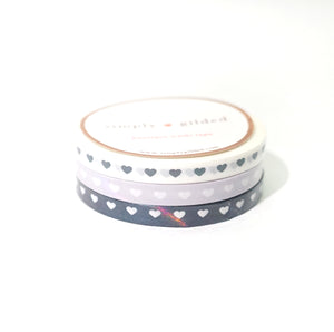 WASHI 5mm set of 3 - Spirit HEARTS trio