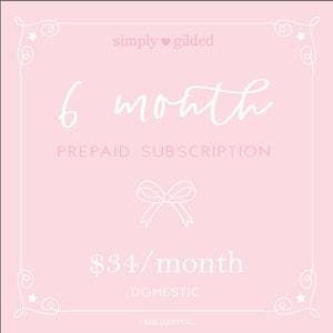 6 Month simply gilded box Prepaid subscription (Domestic)