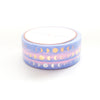 PERFORATED 6mm set of 3 - Moon Phase PINK/BLUE OMBRE + lt. gold/rose gold/silver holo