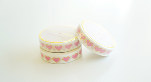 "WASHI TAPE 10mm ""8-BIT LOVE"" +  gold foil"