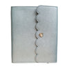 LARGE STICKER ALBUM- Steel Luster + silver hardware