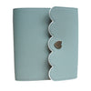 MINI STICKER ALBUM - Teal Pebble with Blush Pebble Interior + silver hardware