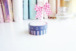 WASHI TAPE 10/10mm - ANCHOR and STRIPES + Rose Gold (Mystery Monday)