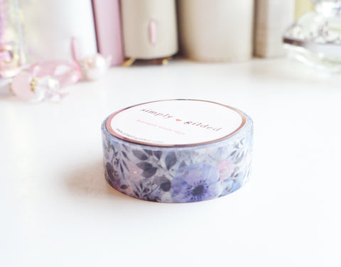 April Garden rose gold foil washi tape - 15mm - (April mini release)