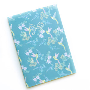 A5 NOTEBOOK - Stitched Bound Dot Insert (Hummingbird Story)