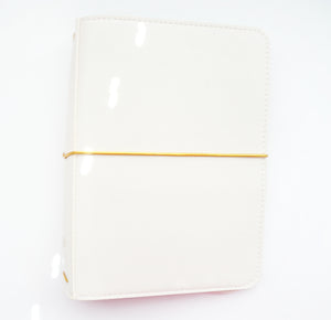 COVER - B6 TRAVELER'S NOTEBOOK - PAINTED GARDEN CREAM + GOLD elastics (Painted Garden) - OOPS