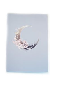 B6 NOTEBOOK INSERT - Lullaby Moon B6 Stitched Bound INSERT + silver (LULLABY MOON)