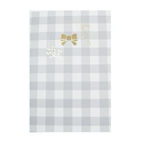 B6 NOTEBOOK - FAWN'D MEMORIES Grey & White Check B6 Stitched Blank Insert
